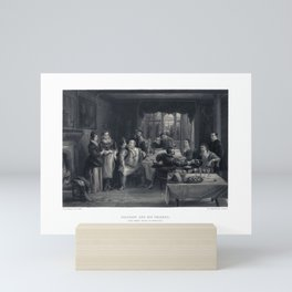 """Falstaff and his friends. (""""The Merry Wives of Windsor"""") Room Decor Mini Art Print"""