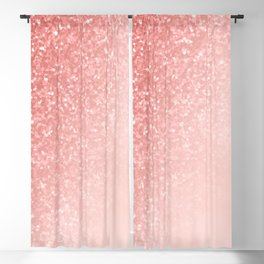 She Sparkles Deep Rose Gold Pastel Pink Luxe Geometric Blackout Curtain