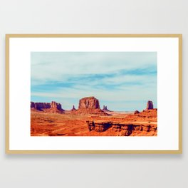 John Ford Was Here - Monment Valley Framed Art Print