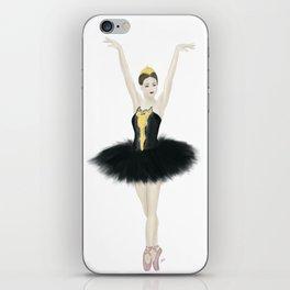 Black Swan Ballerina iPhone Skin