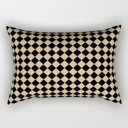 Black and Tan Brown Diamonds Rectangular Pillow