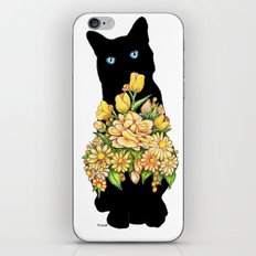 Tall Black Cat iPhone Skin