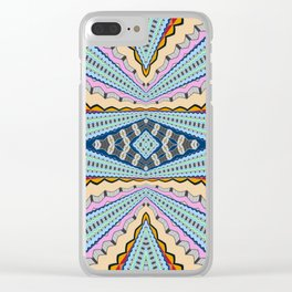 A Gentle Vortex Classic Psychedelica Print Clear iPhone Case