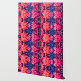 Coral Pink Boho Wallpaper