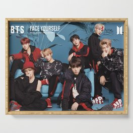 bts face yourself teaser Serving Tray