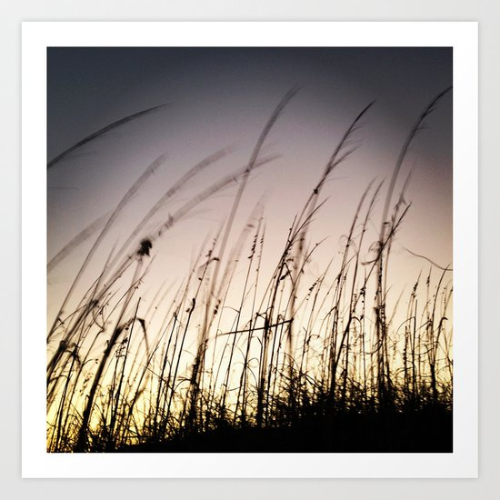 Sunset on Tybee Art Print