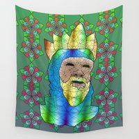 medieval Wall Tapestries featuring Medieval King by Dusty Goods