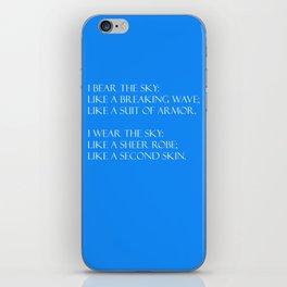 Summer air (blue) iPhone Skin
