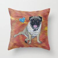 woody Throw Pillows featuring Woody by gretzky