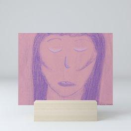 White Pink Violet Flame Woman Shekhinah Shakti Nur Mini Art Print