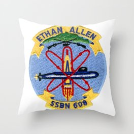 USS ETHAN ALLEN (SSBN-608) PATCH Throw Pillow