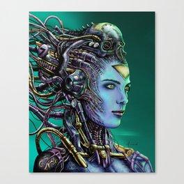 Cyberpunk Woman Canvas Print