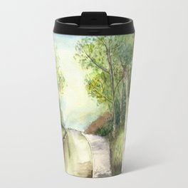 Trees by the canal Travel Mug