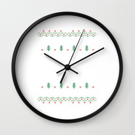 Wine - Wine Christmas Eve Xmas Holiday Celebration Gifts Wall Clock