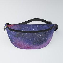 Watercolor Galaxy Nebula Pink Purple Sky Stars Fanny Pack