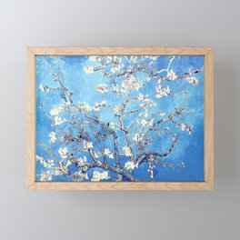 Vincent Van Gogh Almond Blossoms. Sky Blue Framed Mini Art Print