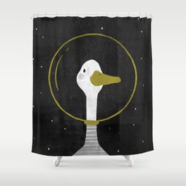 Space Goose Shower Curtain