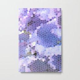 Abstract Purple Mosaic Art | Geometric | Spring Metal Print