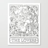 valentines Canvas Prints featuring Valentines by Ilse Gabriela