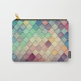 old vintage colorful tiles Carry-All Pouch