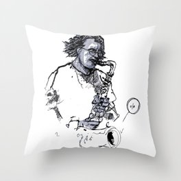 russ gershon of the either orchestra Throw Pillow