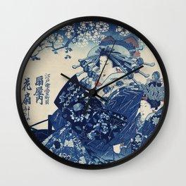 Japenese Blue Wall Clock
