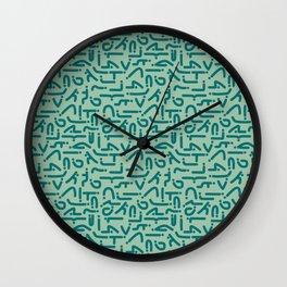 Asanas Wall Clock