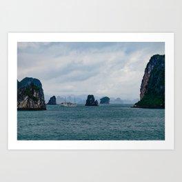 Bai Tu Long (Halong) Bay, Vietnam Art Print