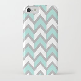 Minty Chevron iPhone Case
