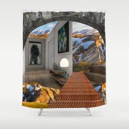 Open Plan Living Shower Curtain