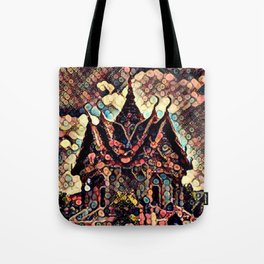 Glowing Temple Tote Bag