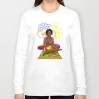 hippie Long Sleeve T-shirts featuring Hippie Chick by Kivitasku Designs