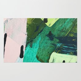 Hopeful[4] - a bright mixed media abstract piece Rug