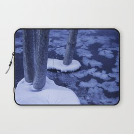 Winter Ice Surrounds Young Trees In The Otonabee River Laptop Sleeve