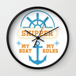 My Boat My Rules Wall Clock