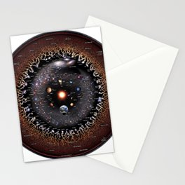 Observable Universe Logarithmic Illustration (Annotated 2019 Version!) Stationery Cards