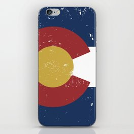 Distressed Colorado Flag iPhone Skin