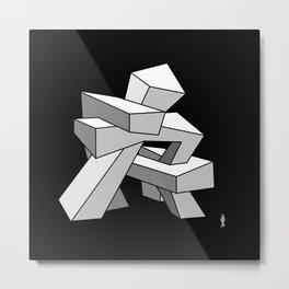 Croocked Architecture Sculpture Metal Print