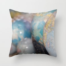 Globes Throw Pillow