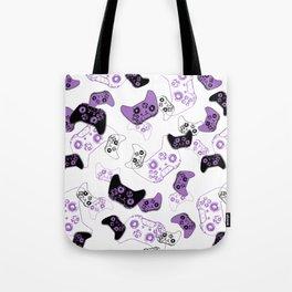 Video Game White & Lavender Tote Bag