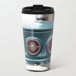 Vintage Chevy Turquoise Blue & Red Travel Mug