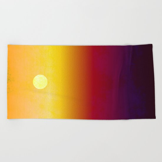 Sunset Over The Desert  Beach Towel