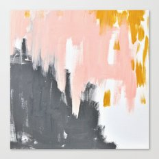 Gray and pink abstract Canvas Print