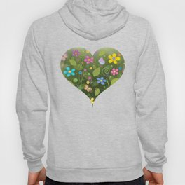 Floral and Butterfly Pattern - Summer Blooms Hoody