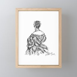 The Striped Gown Framed Mini Art Print
