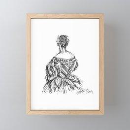 The Striped Gown Framed Mini Art Print