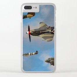 Vintage Aircraft Clear iPhone Case