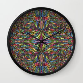 Stained Glas Wall Clock