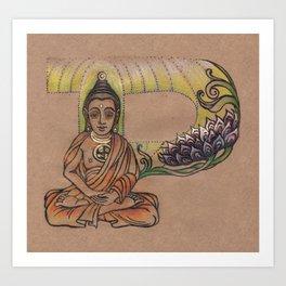 Buddha P Art Print