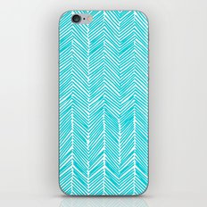 Freeform Arrows in turquoise iPhone & iPod Skin